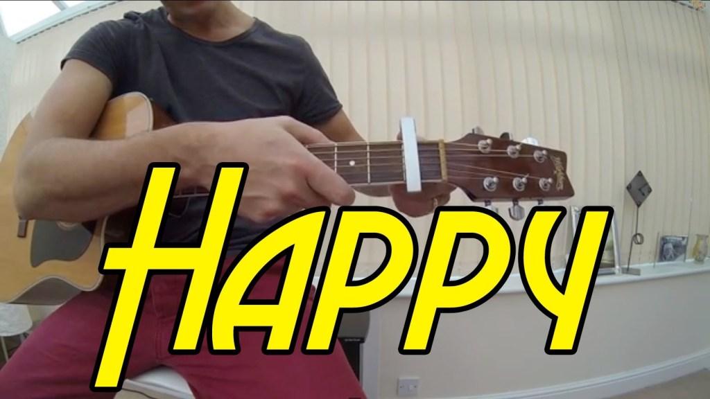 Happy Pharrell Williams Guitar Tutorial Lesson Chords Easy Version ...