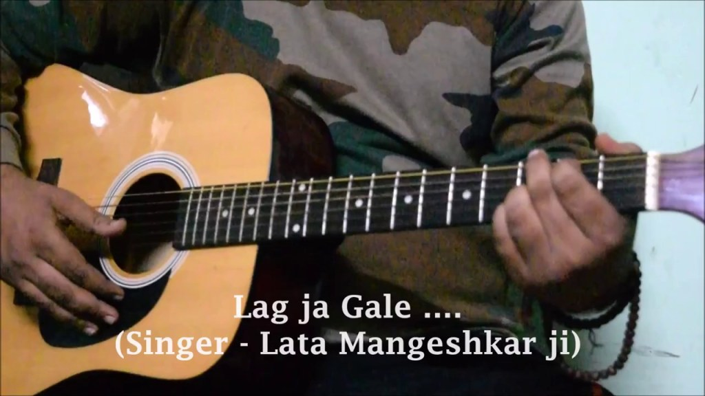 Lag Ja Gale Easy Guitar Lesson Chords Strumming Lata