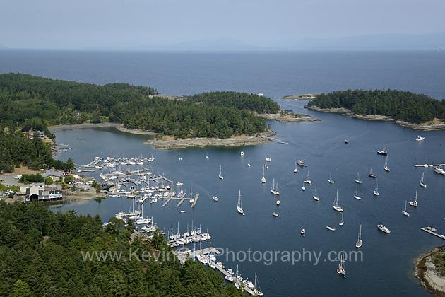 Aerial photograph of Silva Bay anchorage and marinas, Gabriola Island, British ColumbiaSilva Bay, Gabriola Island