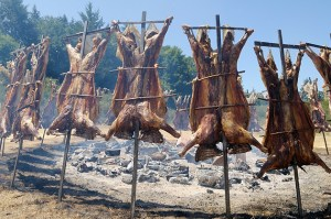 The Canada Day lamb BBQ on Saturna Island