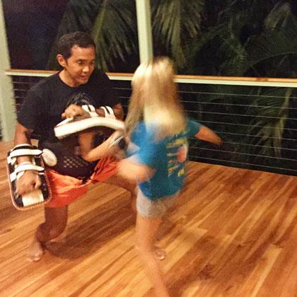 Kickboxing!