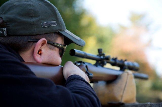 Simple disposable earplugs generally do not block enough sound, especially when shooting the big guns 2