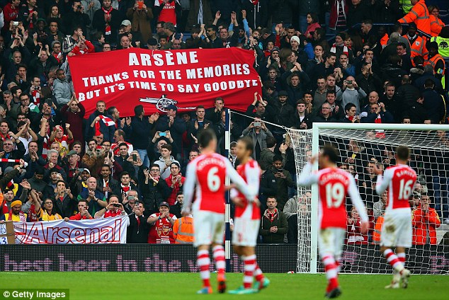 Some fans vented their frustrations at Wenger on the final whistle at The Hawthorns