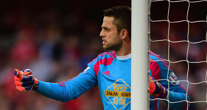Lukas Fabianski joined Swansea after the F.A. Cup final tiumph