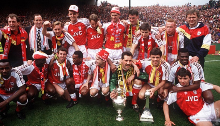 Anders with the rest of our 1990-91 Title winning squad