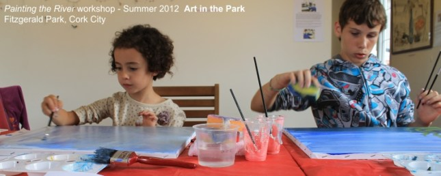 Art in the Park - Painting workshop for children at the lord mayor's pavilion, fitzgerald park, cork city