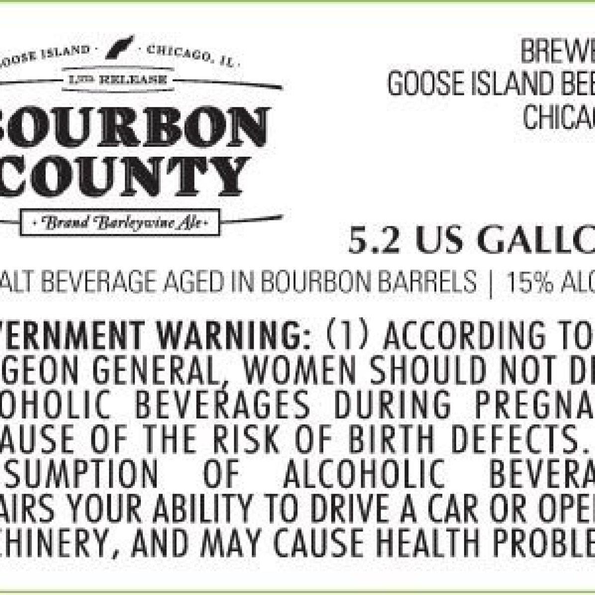 Goose Island Bourbon County Brand Barleywine