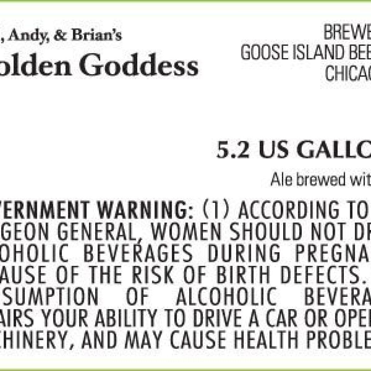 Goose Island Joel, Andy & Brian's Golden Goddess