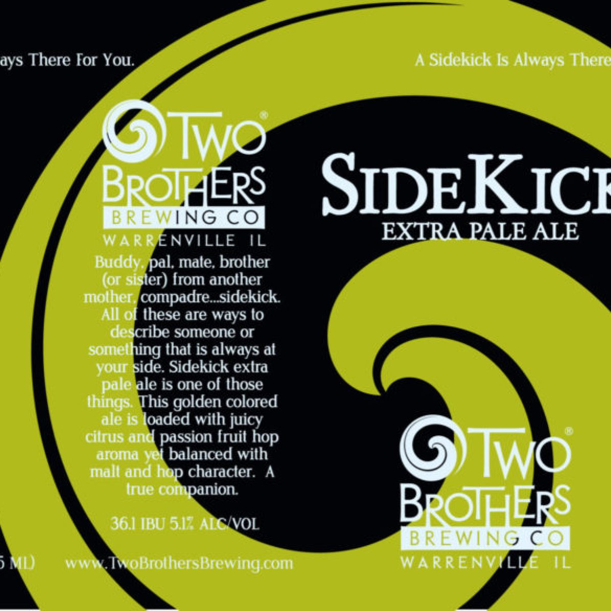 Two Brothers SideKick Extra Pale Ale