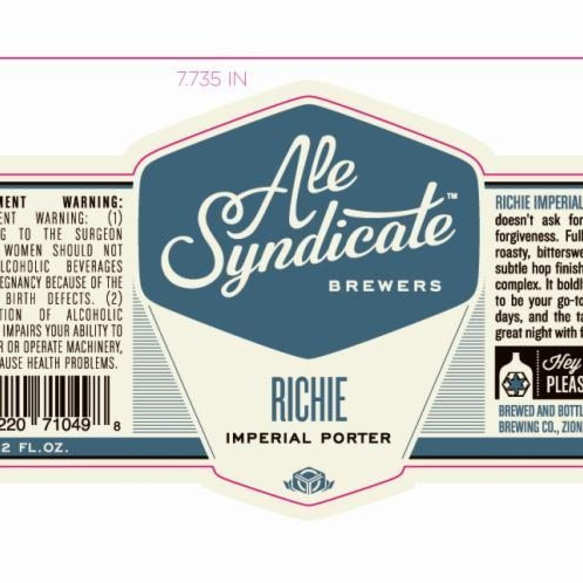 Ale Syndicate Richie Imperial Porter