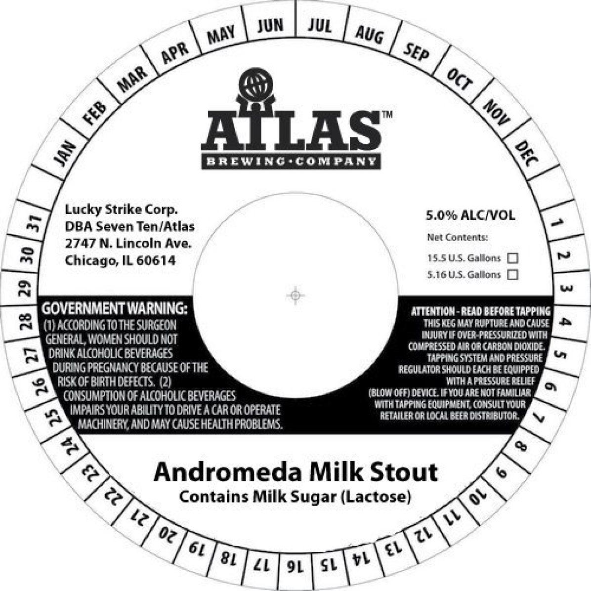 Atlas Brewing Andromeda Milk Stout