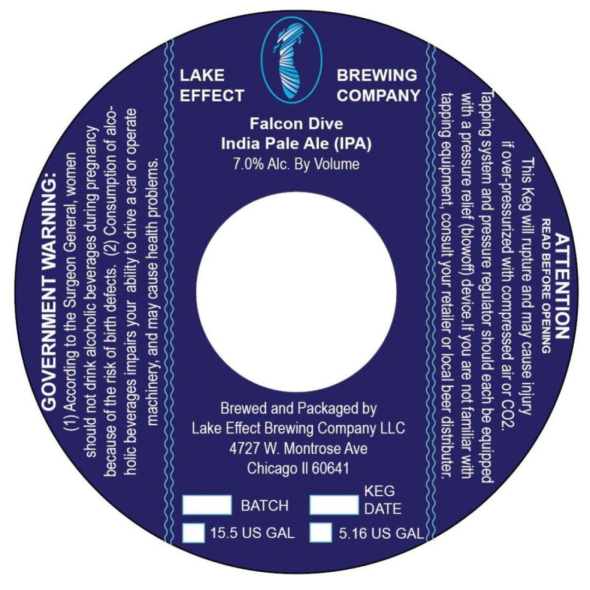 Lake Effect Falcon Dive India Pale Ale
