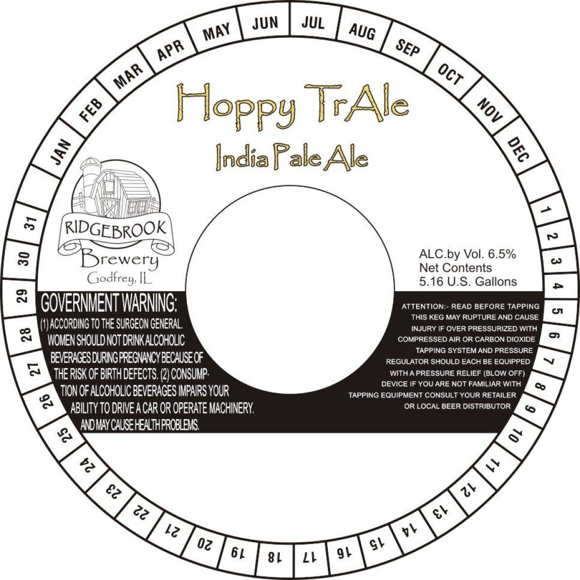 Ridgebrook Brewery Hoppy TrAle