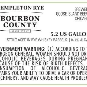 Goose Island Bourbon County Templeton Rye Stout Label