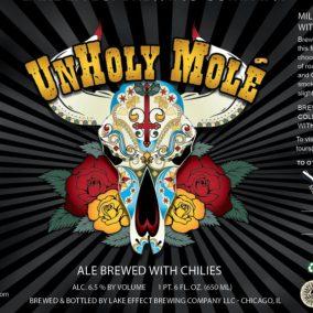 Lake Effect Unholy Mole label
