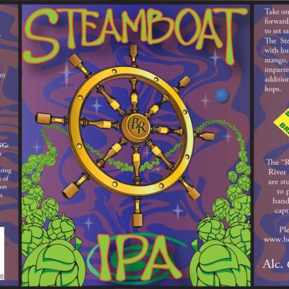 Bent River Steamboat IPA Label