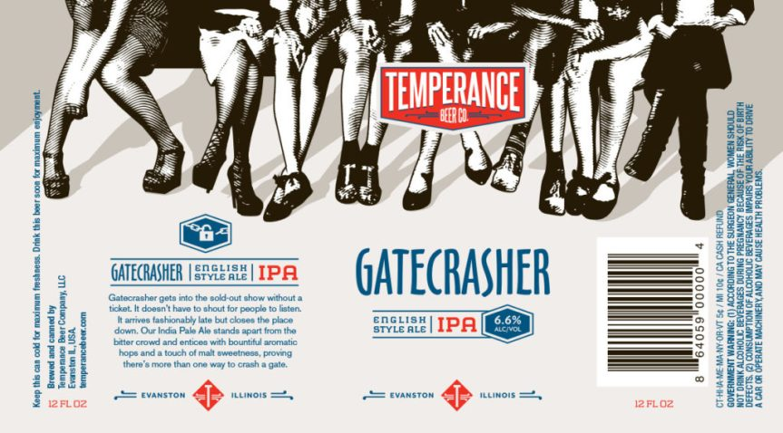 Temperance Gatecrasher English Style IPA Label