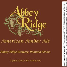 Abbey Ridge American Amber Ale Label