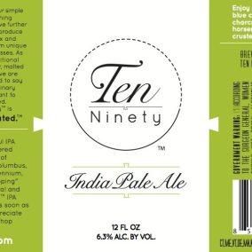 Ten Ninety IPA Label