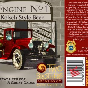 Two Brothers Engine No. 1 Kolsch Label