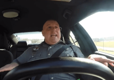 police officer lip syncs taylor swift shake it off dash cam