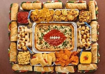 super bowl snack stadium recipe