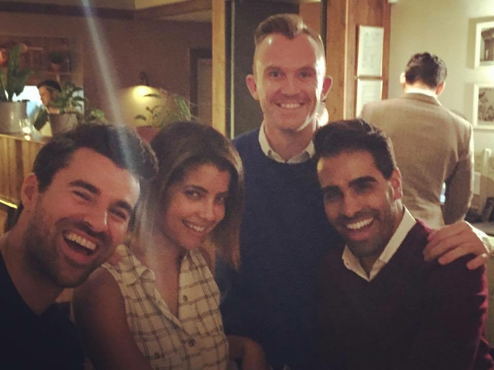 Joff with Steve Jones, his wife Phylicia Jackson and GuysLikeU's Dr Ranj Singh.