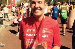 london Marathon finish