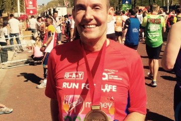 london Marathon finish