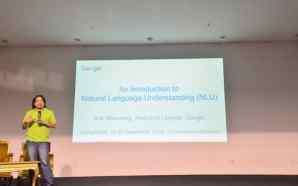 Seminar CompFest 8: Natural Language Understanding, Kenali Bahasa Mesin