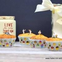 Hochzeitsmuffins als Backmischung im Glas