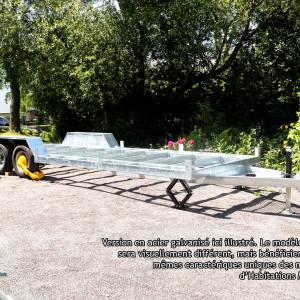 Aluminium tiny house trailer