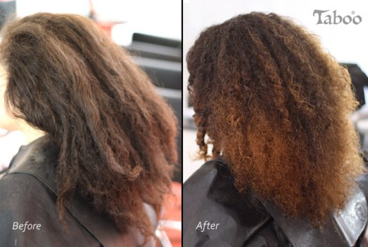 curly hair cut and shaping with balayage highlighting applied
