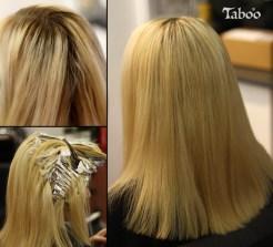 Hair colour retouching