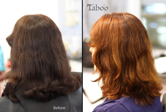Balayage highlighting application