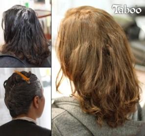 Hair colour light brown makeover