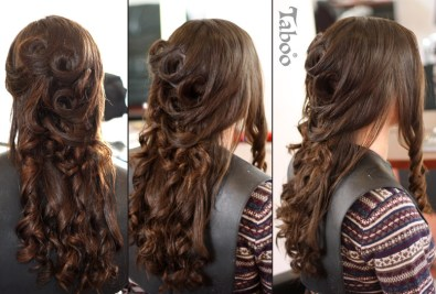 Hair updo style photo
