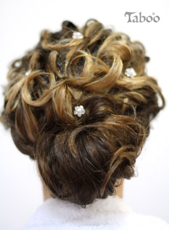 Bridal hair updo design photo by Tina Fox Karori Hairdresser