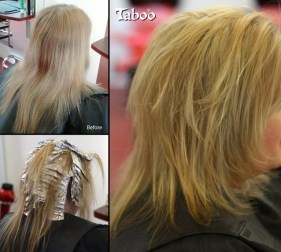 Blonde foil highlights