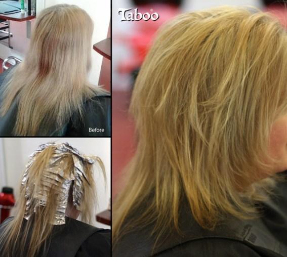 Blonde foil highlights