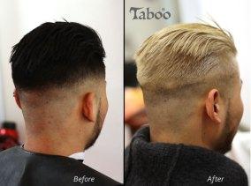 Male hair colour change - dark to blonde