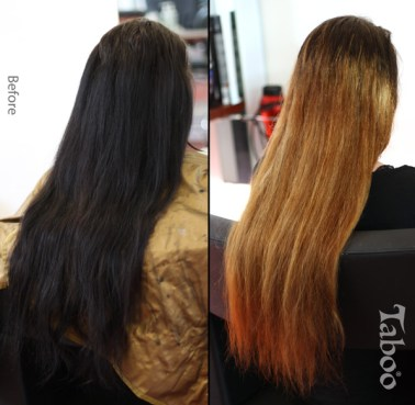 Ombre highlighting
