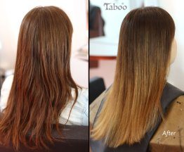Ombre highlighting result