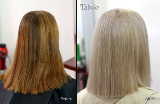 platinum blonde hair colour style