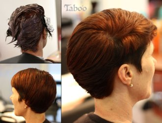 Red copper hair colour highlights after photo