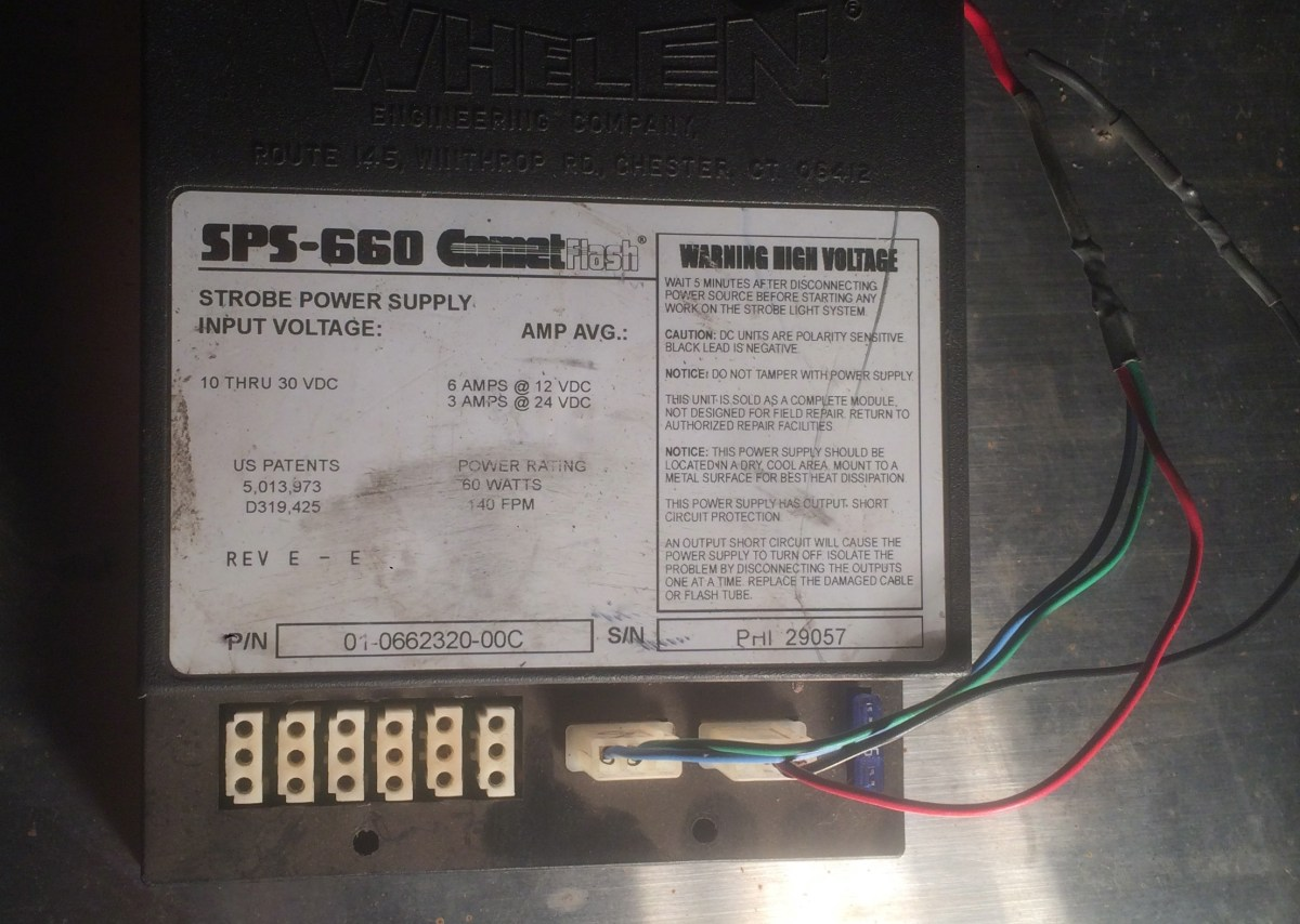 Whelen Csp 660 Sps Cometflash 6 Port 60w 12v Strobe Power Short Circuit Protection To Your Supply Controller Hale Mill Development