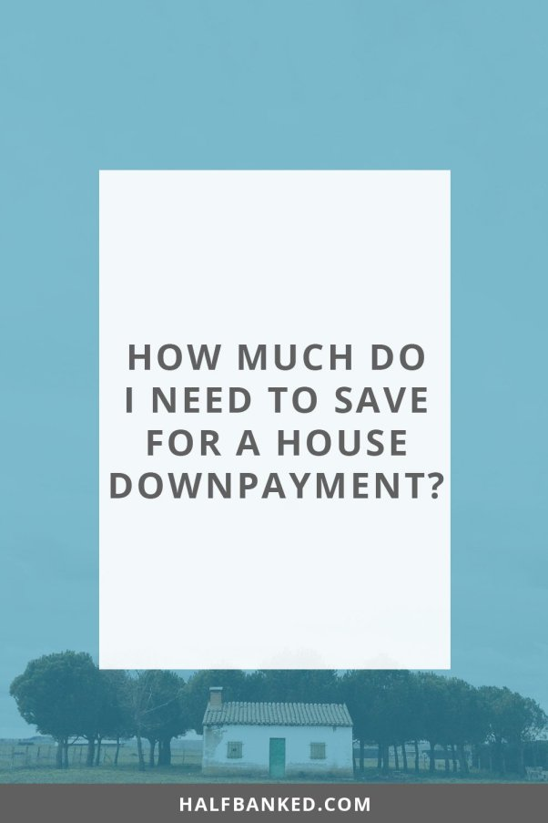 how much do I need to save for a house downpayment