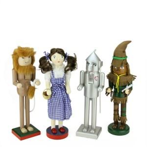 4 Piece Decorative Wizard of Oz Wooden Christmas Nutcrackersn Set