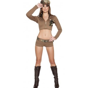 4pc Sexy Soldier Babe Costume