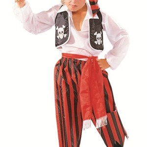 5 Piece Pirate Boy Costume